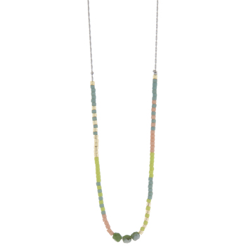 Glass Beaded Chain Necklace