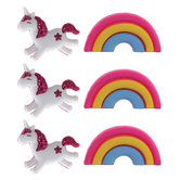 Unicorn & Rainbow Shank Buttons