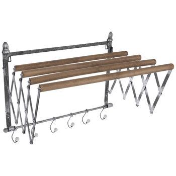 Galvanized Metal Wall Rack