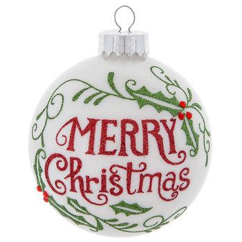 Merry Christmas Ball Ornament
