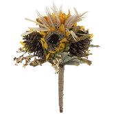 Sunflower, Pinecone & Wheat Bouquet