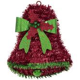 Tinsel Mini Bell Wreath Embellishment