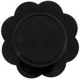 Black Flower Plate Charger