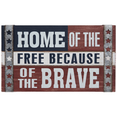 Home Of The Free Wood Wall Decor