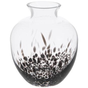 Black Spotted Glass Vase