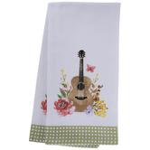 Dolly Parton Floral Guitar Kitchen Towels