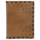 Tan Studded Leather Sketchbook