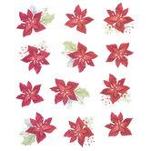 Poinsettias Stickers