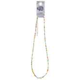 Multi-Color Cultured Pearl & Seed Bead Necklace