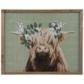 Highland Cow Framed Wall Decor