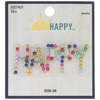 Happy Pearl Iron-On Applique