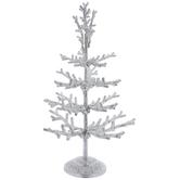 Silver Glitter Metal Tree