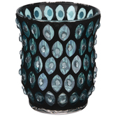 Turquoise Mosaic Glass Candle Holder