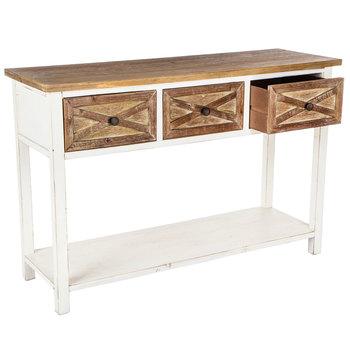 Sofa Table with Barn Door Drawers