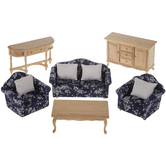 Miniature Floral Living Room Furniture