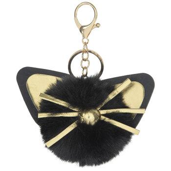 193 Initial Keychain Personalized Keychain Custom Keychain Cat Outline Key Ring Cat Charm Animal Charm Cat Outline Keychain