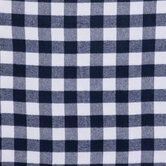 Navy & White Buffalo Check Flannel Fabric
