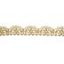 Gold Scallop Edge Lace Trim - 1