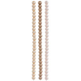 Pearlescent Coated Glass Bead Strands