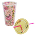 Roses Travel Mug With Lid & Straw