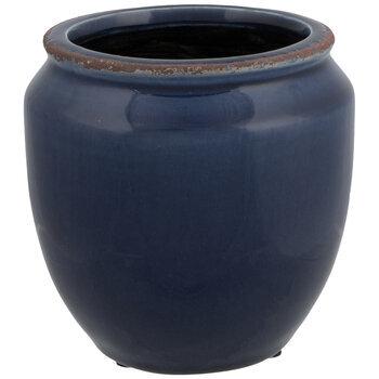 Crackled Flower Pot