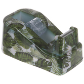 Green Tropical Leaves Tape Dispenser