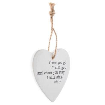 Ruth 1:16 Heart Ornament