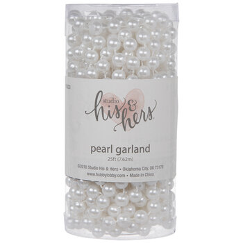 Pearl White Pearl Beaded Garland