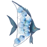 Blue Fish Metal Wall Decor