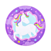 Unicorn Birthday Paper Plates - Small