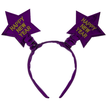 Purple Happy New Year Star Headband