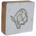 Artichoke Sketch Wood Decor
