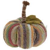 Multi-Color Woven Plush Pumpkin