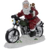 Santa Riding Motorcycle