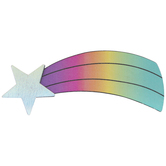 Shooting Star Painted Wood Shape