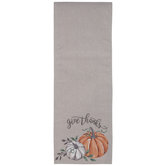 Give Thanks Pumpkins Table Runner