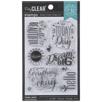 Hello Beautiful Floral Clear Stamps