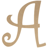 """Curly-Q Wood Letter A - 8"""""""