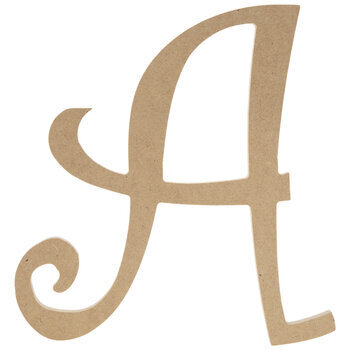 Curly-Q Wood Letter - 8""