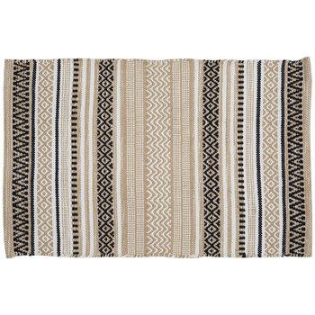 Black & White Handloom Jacquard Rug