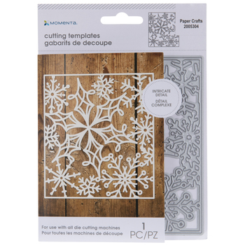 Square Snowflake Background Die