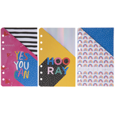 Happiness Foil Planner Pocket Folders