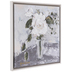 White Rose In Vase Canvas Wall Decor