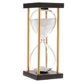 Black & Gold Art Deco Hourglass