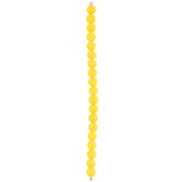 Yellow Round Coated Glass Bead Strand
