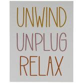 Unwind Unplug Relax Wood Wall Decor