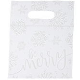 Snowflake Zipper Bags With Handles