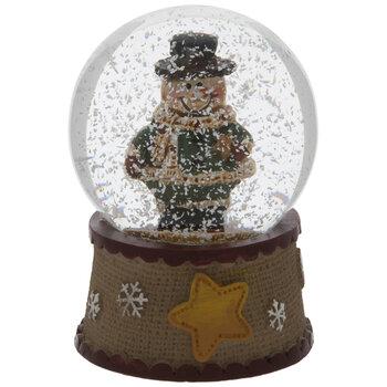Mini Snowman With Star Snow Globe