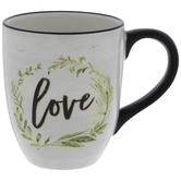 Love Herbal Wreath Mug