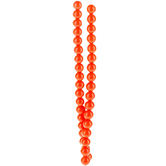 Orange Round Bead Strands